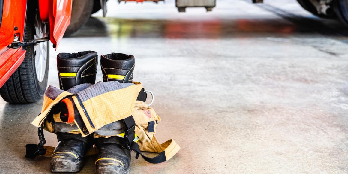firefighter decontamination turnout gear