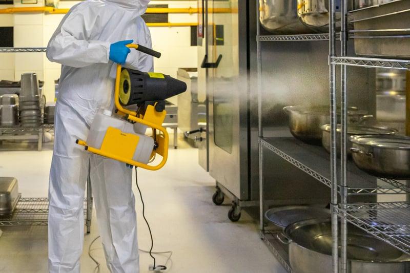 Chemical disinfectant fogging